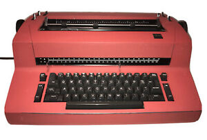 Ibm Selectric Ii Red Electric Typewriter Vintage Classic Office Workhorse Tested