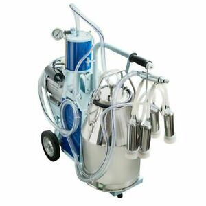Used 110v Stainless Steel Piston Milker Electric Milking Machine For Cows goats
