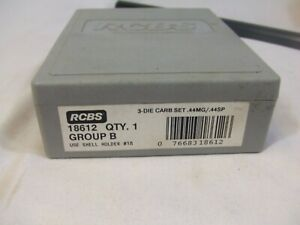 RCBS 3 DIE CARBIDE RELOADING SET 44MAG. 44SPL. NEW MADE IN USA 18612 $75.00