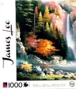 Jigsaw Puzzle Misty Falls by James Lee 1000 Pc. 19 X 29 IN. $11.10