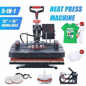 15x15 In Swing Away Heat Press 5 In 1 Heat Press Machine For Home Business More