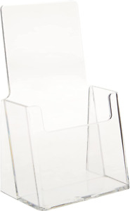 Azar 252012 Clear Acrylic Trifold Literature Brochure Holder For Counter Perfe