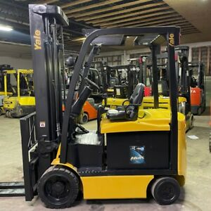 2015 Yale Erc060vgn 6000lbs Used Forklift W Triple Mast Sideshift Electric
