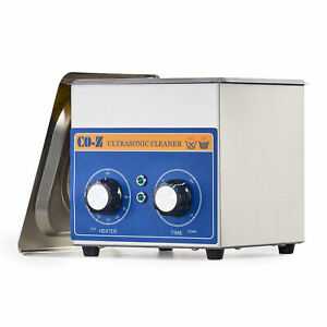 6l Ultrasonic Cleaner Stainless Steel Industry Heater With Timer Jewelry Lab
