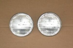 2 Sealed Beam Tractor Headlights Auto Bulb Lights 35w 12v 4 5 Replaces Ge 4411