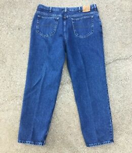 Lee Mens Size 40x30 39x30 Relaxed Fit Straight Leg Cotton Denim Blue Jeans $22.99