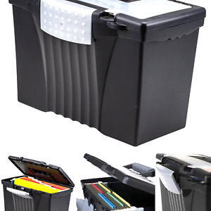 File Box With Organizer Lid Plastic Office File Storage Box For Letter And