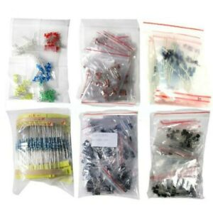 1390x Kit Led Diodes Resistors Electrolytic Capacitors Electronic Components