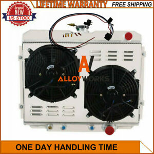 4 Row Radiator Shroud Fan Thermostat Fits 1967 1970 Ford Mustang Mercury Cougar
