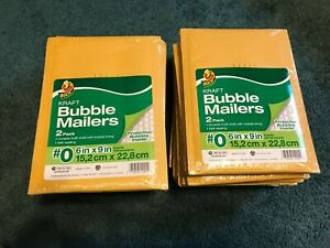 Lot Of 40 o Duck Kraft Bubble Mailers New Unopened