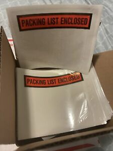 100 4 5 X 5 5 Packing List Envelopes Invoice Slip Enclosed Pouch Free Ship