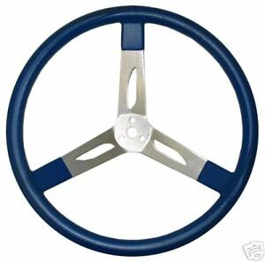 New Sws Racing Steering Wheel 17 Od Blue 3 Spoke Dish