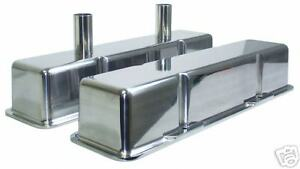 New Sbc Tall Valve Covers Polished Aluminum Chevy
