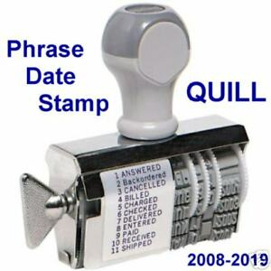 Phrase Dater Stamp 2008 2019 Paid Shipped Cancelled Nip