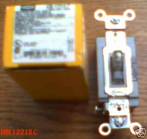 New Hubbell Hbl1221ilc Switch 20 Amp 120 277 V Toggle