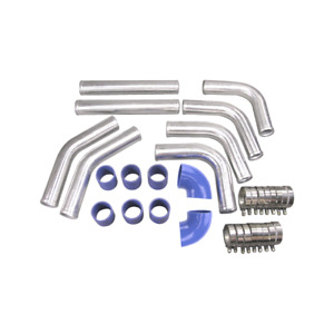 2 5 Universal Aluminum Turbo Supercharged Intercooler Charge Piping Upgrade Kit