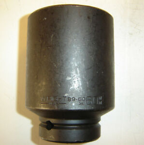Wright 89 60 Deepwell Impact Socket 60 Mm 6 Point 1 Dr