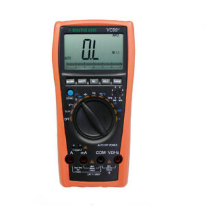 Vc99 5999 Auto Range Digital Multimeter Tester Dmm Analog Bar R C F Ac Dc Buzz