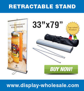 Double sided 33 Retractable Banner Stand