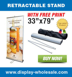 Double sided 33 Retractable Banner Stand Vinyl Prints
