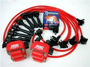 Spark Plug Wires Msd Coil Ngk 96 98 Ford Mustang Gt Wf8