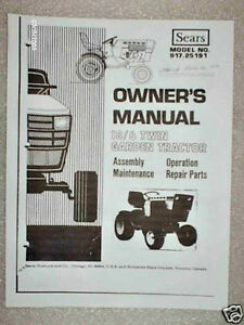 917 25191 Sears Suburban Tractor 18 6 Owners Parts Manual On Cd