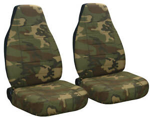 Fits Jeep Wrangler Tj Standard Car Seat Covers Camo Brown Green