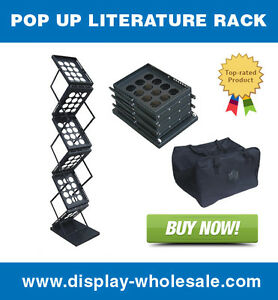 Pop up Brochure Holder Literature Rack For Magazines