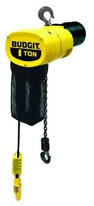 New Budgit 1 ton Electric Chain Hoist 115 Volts