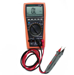 Vc99 5999 Auto Range Digital Multimeter Analog Bar Temp Buzz Ac Dc Rcf Vs Fluke