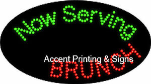Now Serving Brunch Flashing Animated Real Led Sign