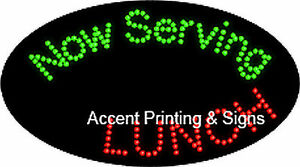 Now Serving Lunch Flashing Animated Real Led Sign