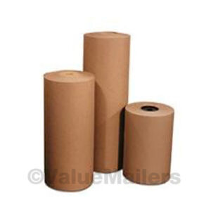 12 40 Lbs 990 Brown Kraft Paper Roll Shipping Wrapping Cushioning Void Fill