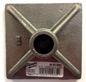 Milwaukee 48 62 3060 Tamper Plate 5 In X 5 In