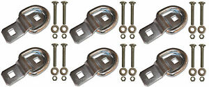 6 3 8 Stainless Steel D Ring Rope Chain Tie Downs Kit With Ss Bolts Trailer