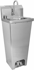 Ace Stainless Steel Hand Sink W Foot Operated Valve Etl Approved Hs 1615fg