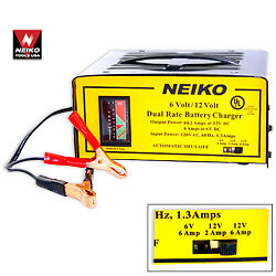 6 12v Battery Charger New Free Shipping