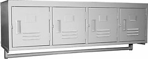 Gsw 4 Tiers doors Premium Steel Wall Mount Employee Storage Locker Els 4dr