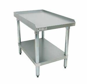 Ace Stainless Steel Equipment Stand W Galv Shelf 30 w X18 1 2 l X24 h Es s3018