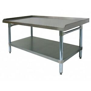 Ace Stainless Steel Equipment Stand W Galv Shelf 30 wx24 1 2 lx24 h Es s3024
