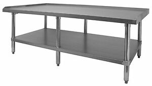 Ace Stainless Steel Equipment Stand W Galv Shelf 30 w X60 1 2 l X24 h Es s3060