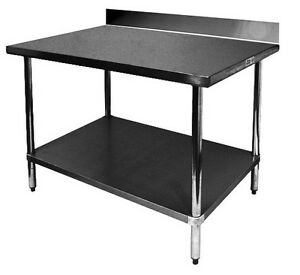 Ace 24x24 All Stainless Steel Work Table W Backsplash Etl Wt pb2424