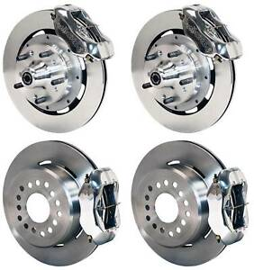Wilwood Disc Brake Kit Complete 64 72 Chevelle 12 Rotors Polished Calipers