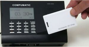 Compumatic Xls 21 Proximity Card Employee Time Clock