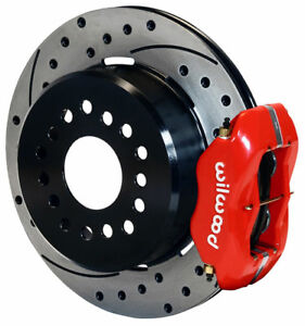 Wilwood Disc Brake Kit Rear 65 73 Mustang 2 5 Red 12 Drilled Rotors