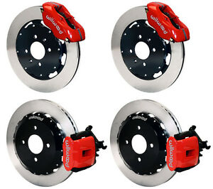 Wilwood Disc Brake Kit honda Civic crx 240mm 11 Rotors red Calipers