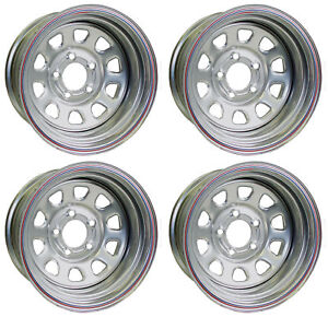 New 15x10 Allied Racing Wheel Set Silver 5 X 5 3 Bs Chevy Buick Gm Olds Gmc