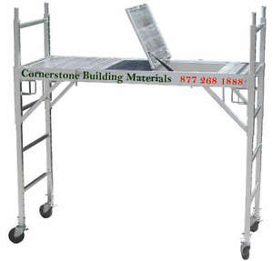 2 Set Of Aluminum Scaffold Rolling Tower W Aluminum Deck U Lock