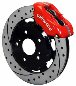 Wilwood Disc Brake Kit Front 02 06 Acura Rsx 04 05 Civic Hb Si 12 Red Drilled