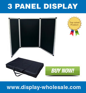 3 Panel Table Top Display